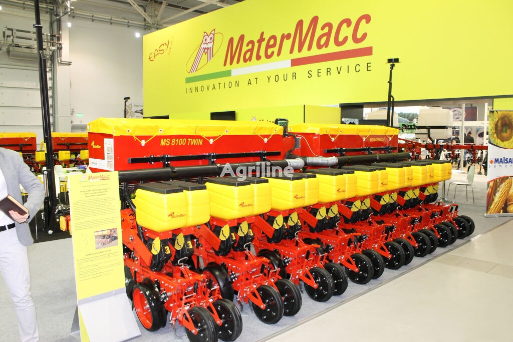 new MATERMACC Twin 8100 pneumatic precision seed drill